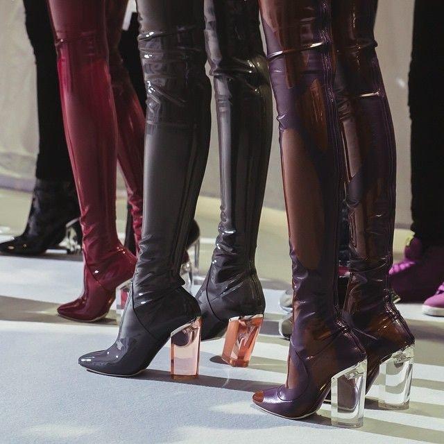 Dior Vinyl Boots FW 2015-16