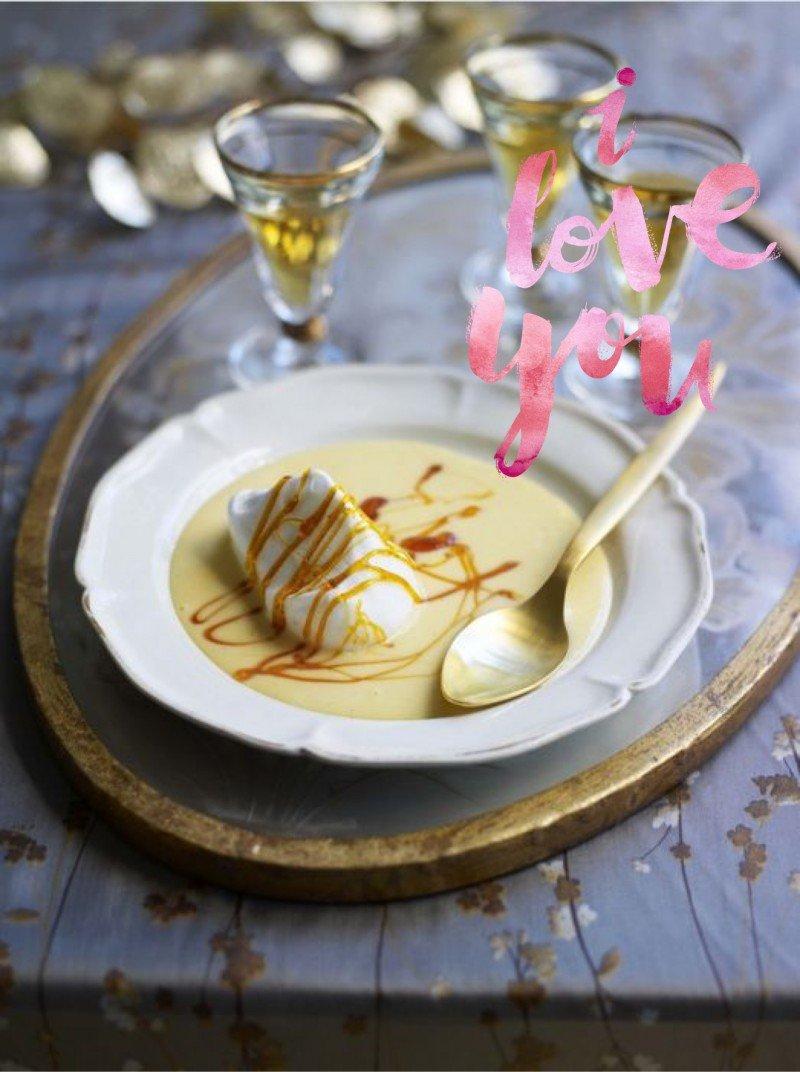 Десерт ко дню святого Валентина (IIe flottante)
