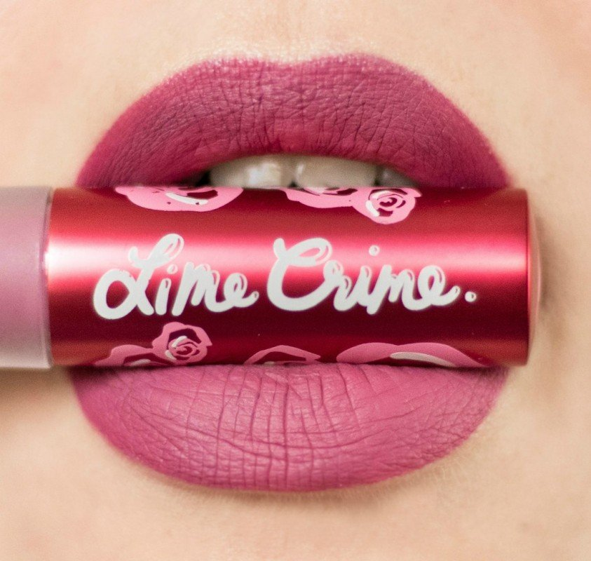 Сказка на губах или Makeup for Unicorns от Lime Crime Lipstick Velvetines в оттенке Polly