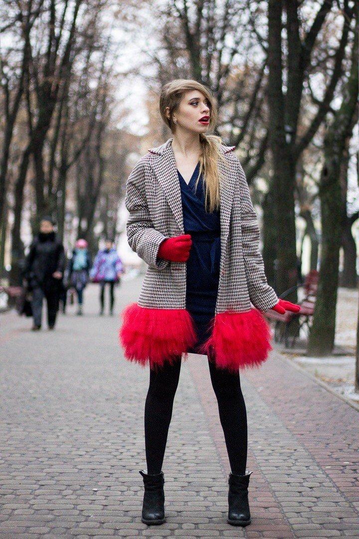 Зимнее пальто с мехом - новый тренд 2016/2017