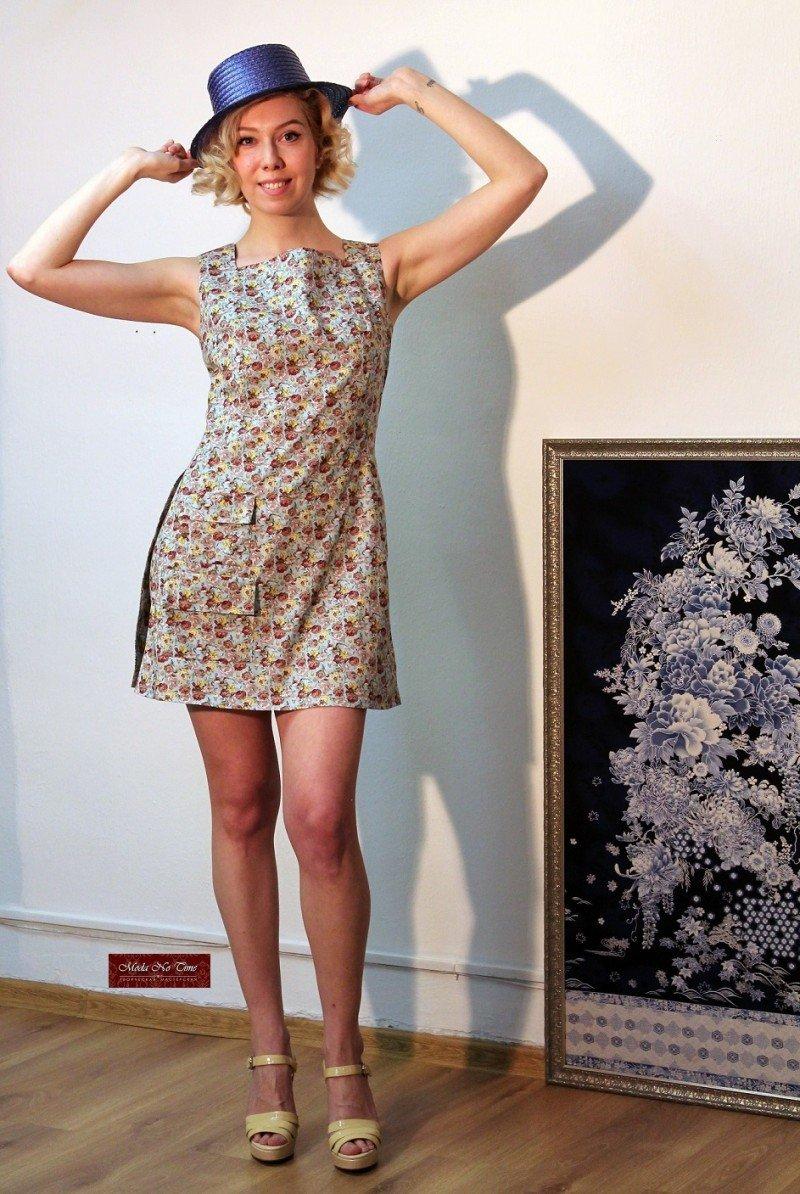 Платье с шортами