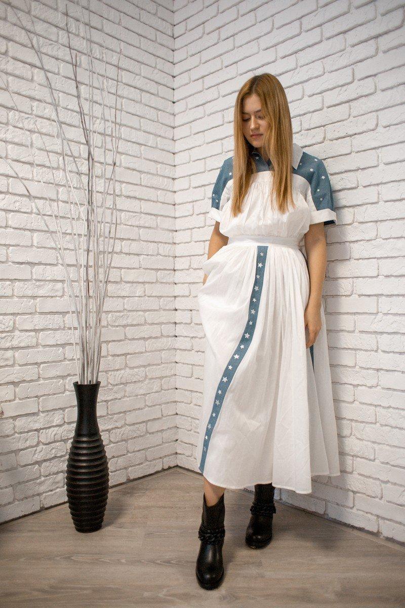 COSMIC WHITE DRESS BY GOAR