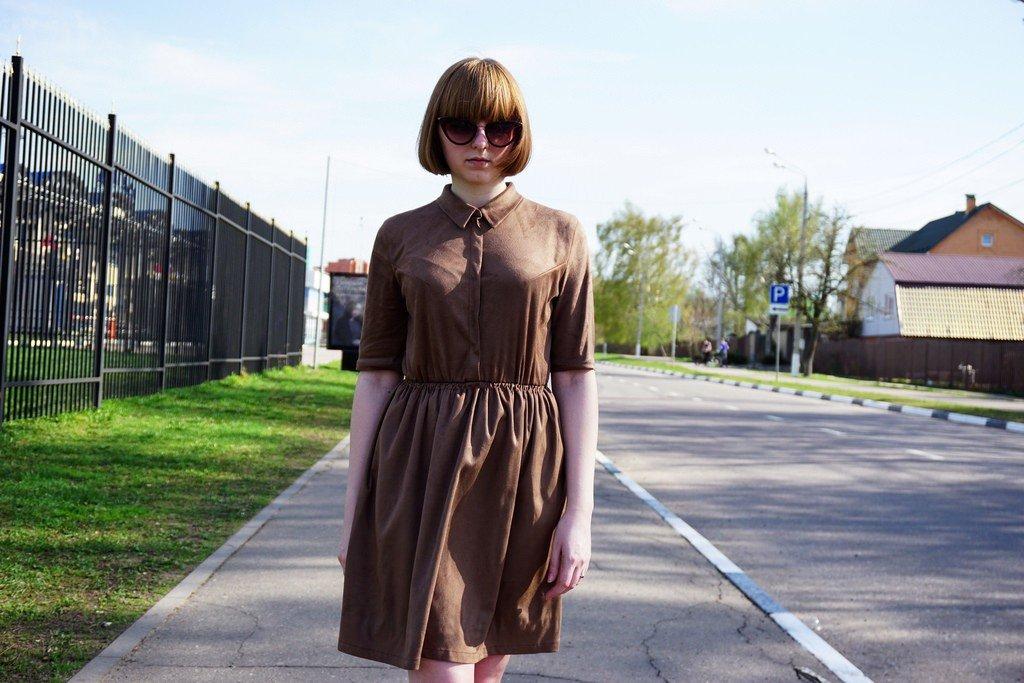 Я шью: Замшевое платье