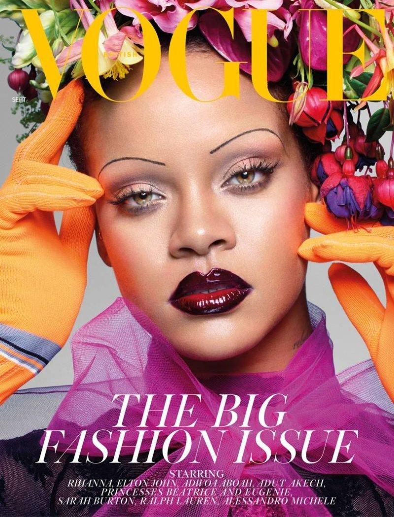 Рианна на обложке британского Vogue сентябрь