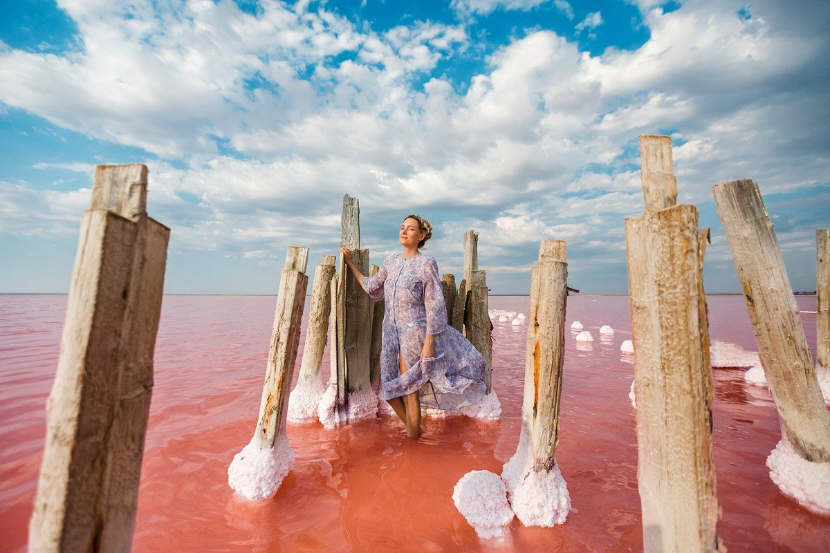 Фотосессия в Крыму? Розовое озеро!