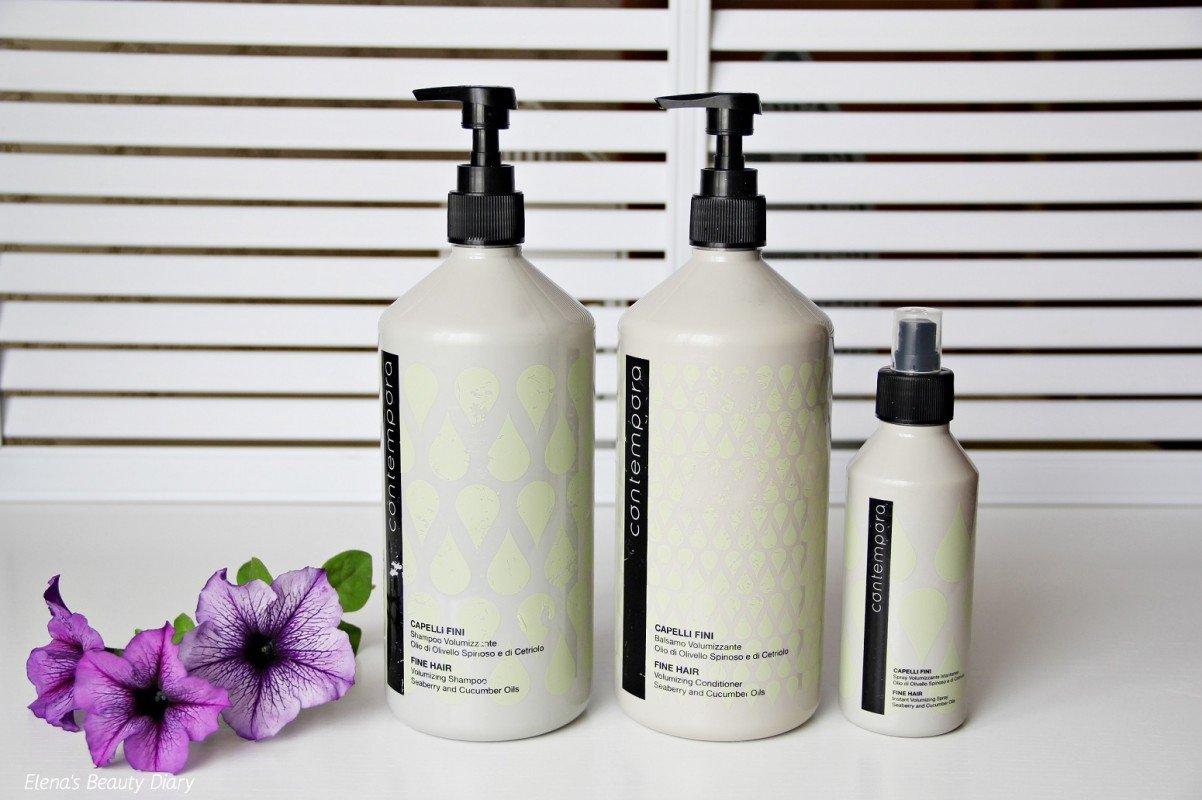 Устойчивый объем на волосах вместе с линией средств Contempora от BAREX.