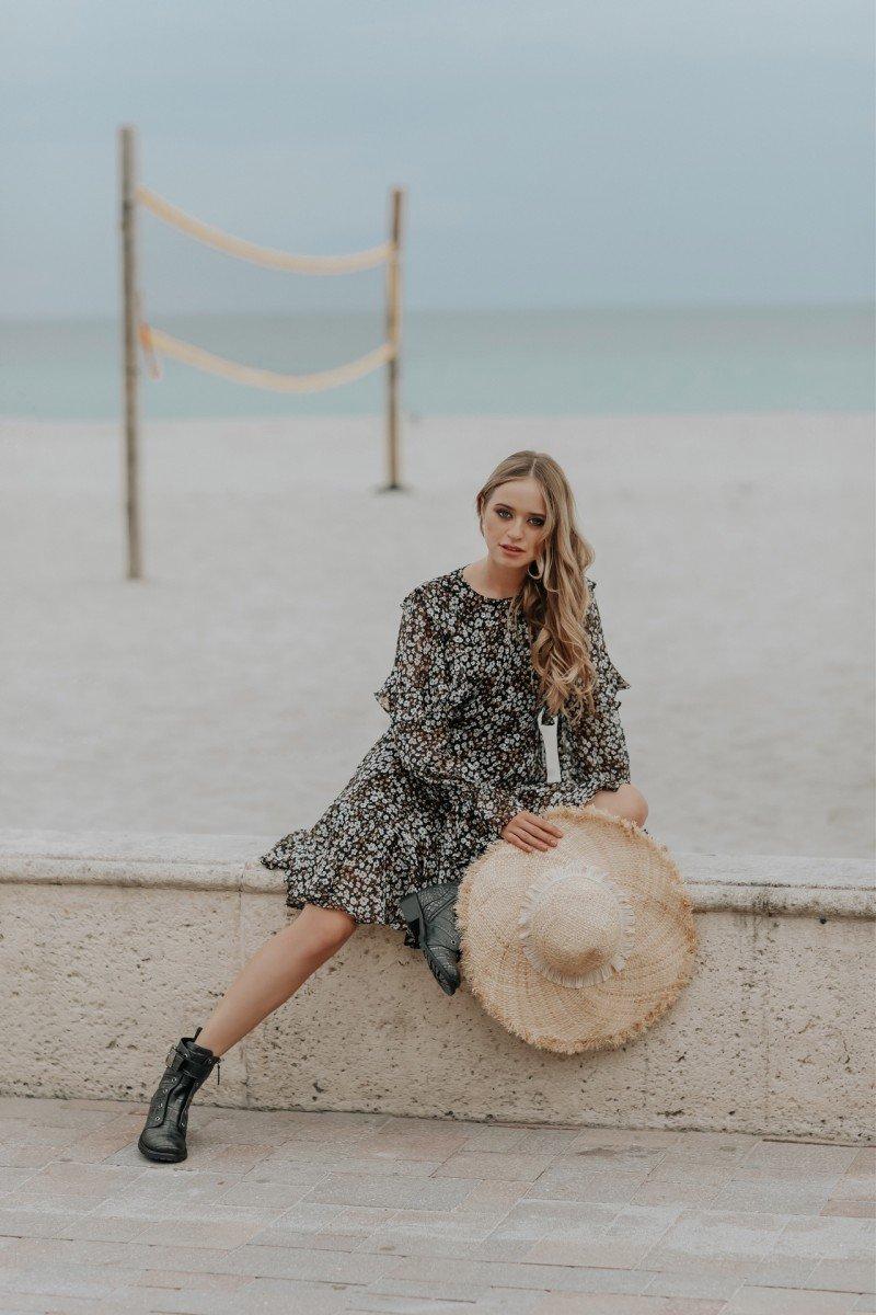 Цветочный принт - тренд весенне - летнего сезона 2019 . Какой фасон сейчас в моде ?