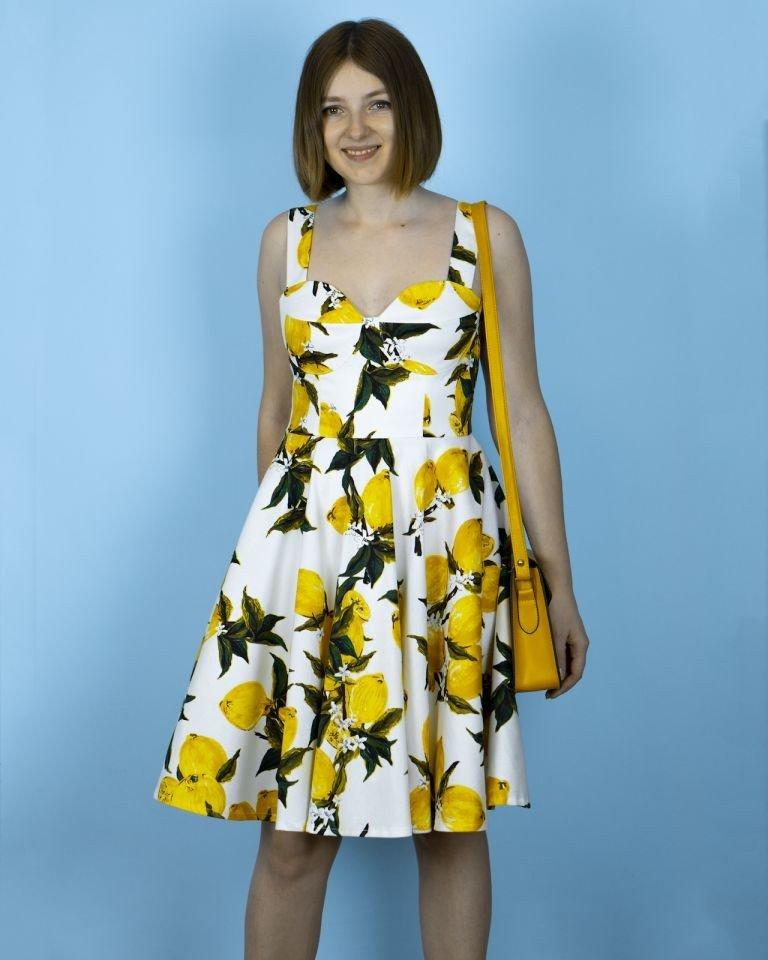 Я шью: Лимонное платье в стиле ретро