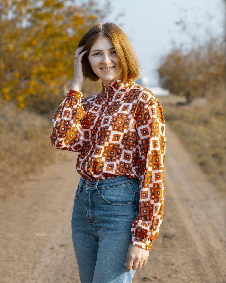Я шью: Рубашка для яркой осени