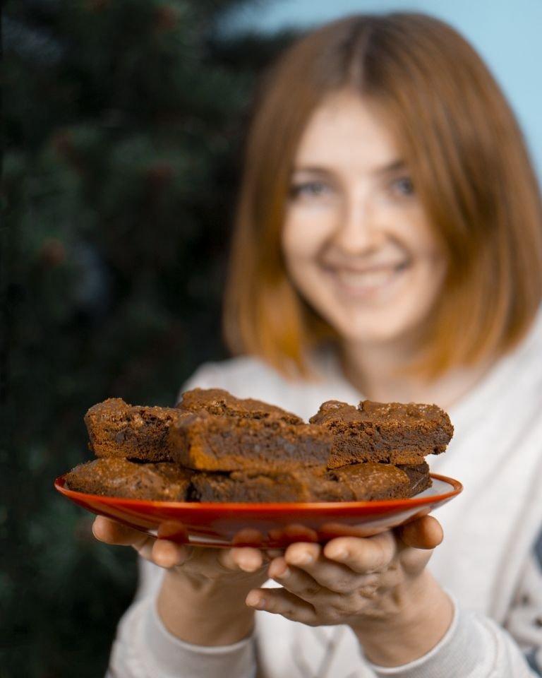 Праздничный рецепт: Имбирно-коричный брауни