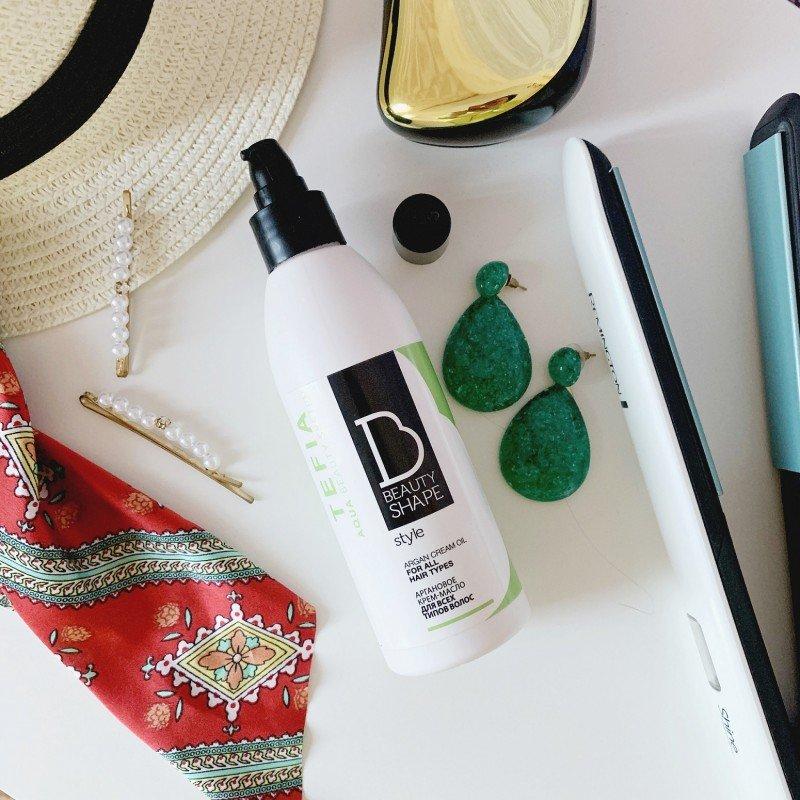 Крем-масло TEFIA аргановое для всех типов волос Beauty Shape Style