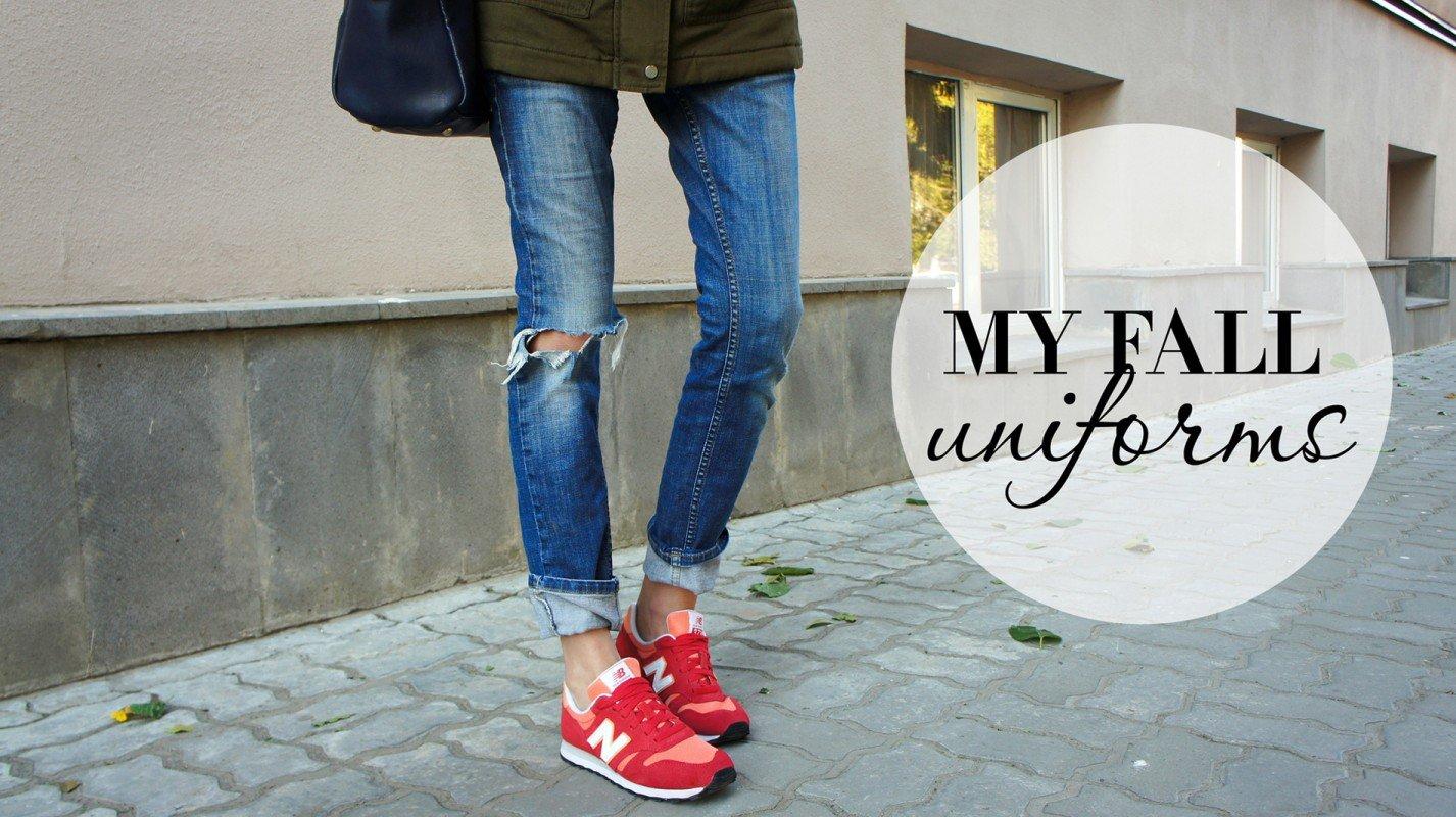 Осенняя униформа - парка и кроссовки!
