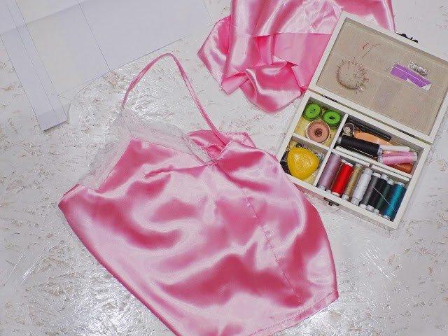 DIY: Шью атласную пижаму с кружевом