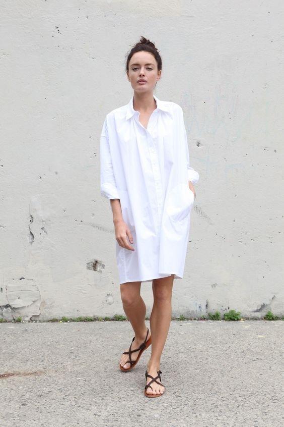 Базовый гардероб. Платье-рубашка