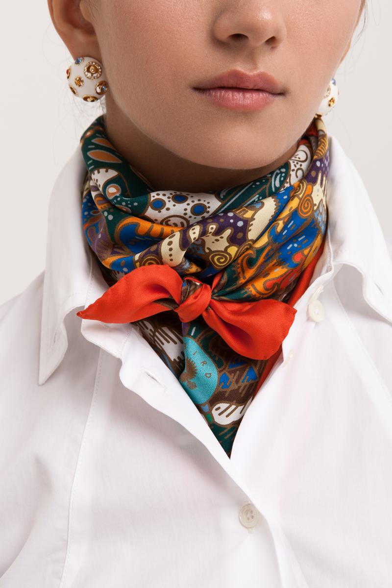 Несколько оригинальных способов завязать шелковый платок от бренда Sirinbird
