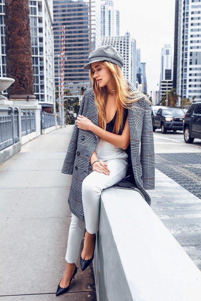 Трендомания : С чем носить и как сочетать пальто в клетку