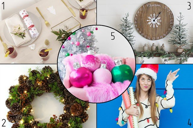 5 Best Christmas DIYs | 5 лучших новогодних мастер-классов