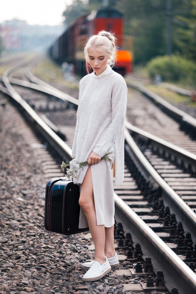 Съемка на Железной Дороге, станция
