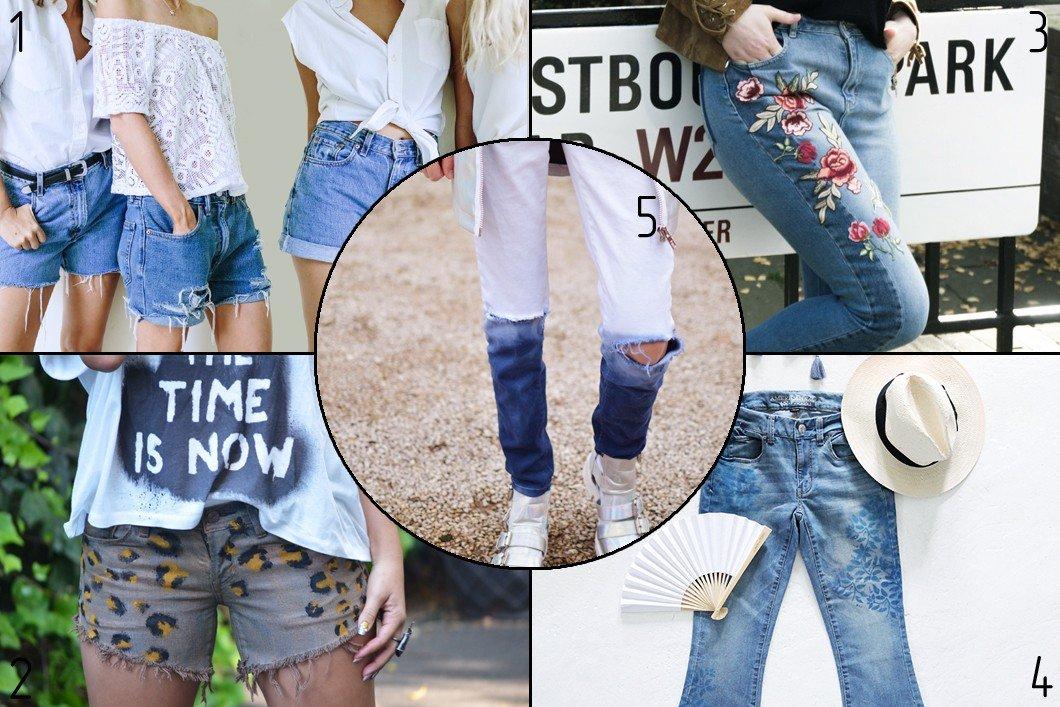 5 способов преобразить старые джинсы / 5 Jeans Refashion To Try This Weekend