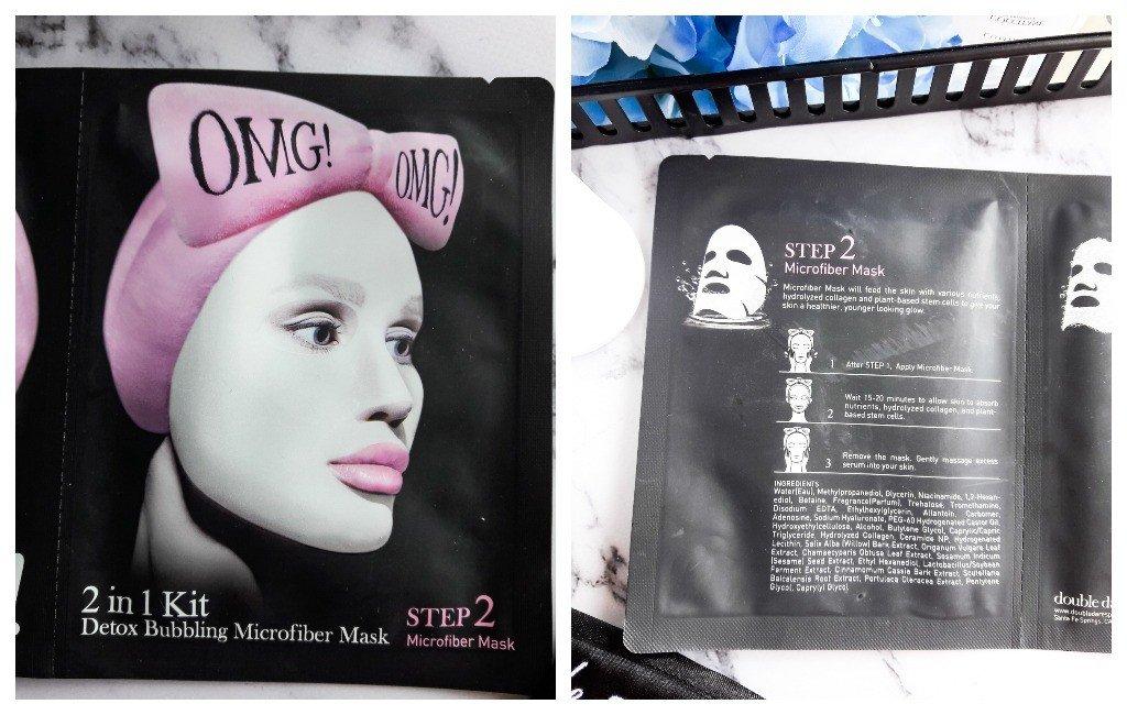 Пузырящаяся маска для выведения токсинов Double Dare OMG!