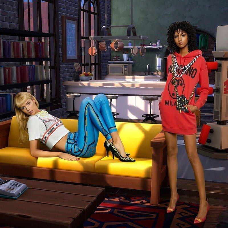 Новая эра коллабораций: партнерство Moschino и The Sims